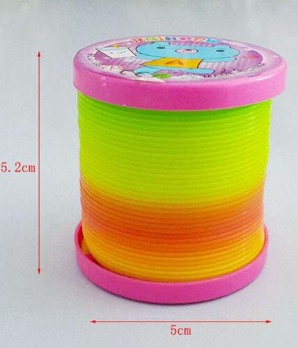 Plastic Magic Rainbow Coil Spring  Colorful Novelties Educational Toy TCUS