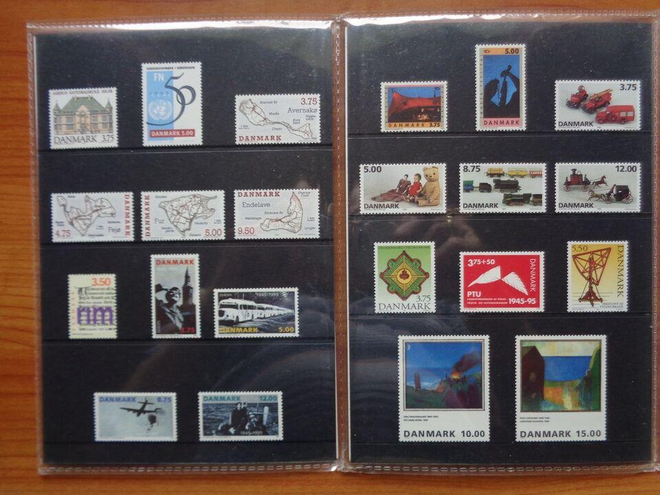Andre samleobjekter, Frimærker fra 1995