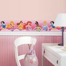 New Pink Disney PRINCESS BORDER Wallpaper Wall Decals Girls Bedroom Wall Decor
