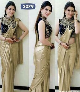 Pure-Silk-Sari-Saree-Blouse-Designer-Bridle-Party-Wear-New-Indian-Wedding-05
