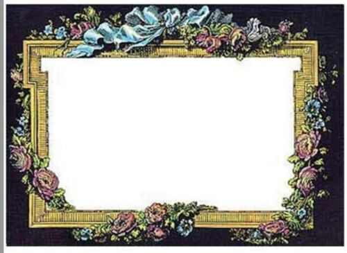 Victorian Trading Co 8 Blank Beau Panel Floral Cards