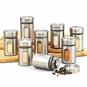 Kitchen Canister Jars Set Storage Containers Spice Bottle 8 Pcs