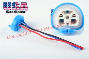 9007 HB1 9004 HB5 3 Wire Harness Pigtail Halogen Light Bulb Socket Male Female