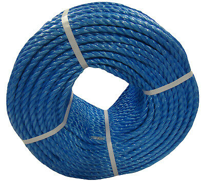 Blue Polypropylene Rope Coils Agriculture Camping Tarpaulins Nylon Sailing Poly