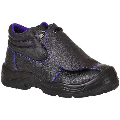 PORTWEST FW22 S3 black metatarsal safety boot with midsole size 38-48