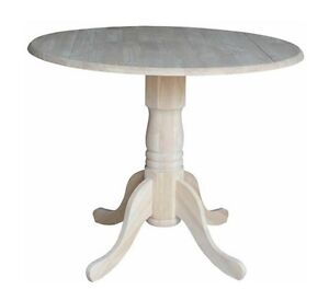 Image Is Loading Round Pedestal Dining Table Drop Leaf For Small