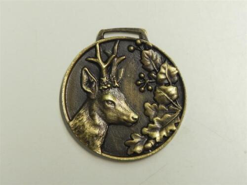 Medaille Medallie goldfarbig Rehbock Rehgeweih Auszeichnung Prämierung NEU