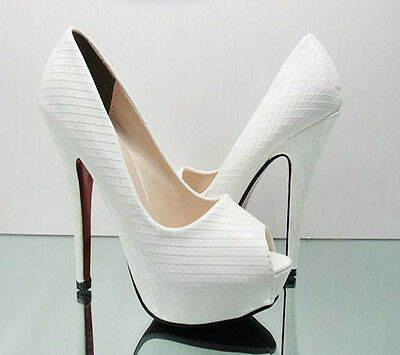 Women's Sexy High Heels Pumps Stiletto Platform Peep Toe Sandal Waterproof Shoes