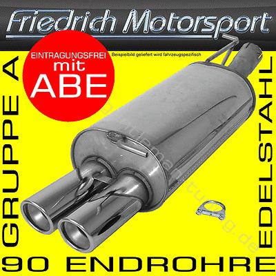 Endschalldämpfer BMW E30 88-95 316 i kat Auspuff