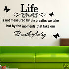 LIFE inspiration quote wall art decal for home or office