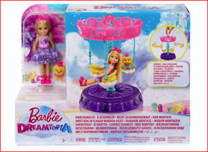 Barbie Dreamtopia CAROUSEL SWING Chelsea Doll /& Puppy Dog