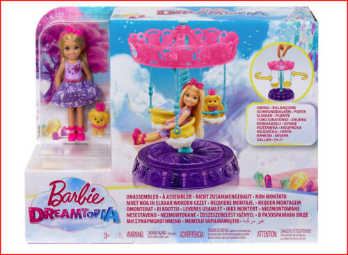 Barbie Dreamtopia CAROUSEL SWING Chelsea Doll /& Puppy Dog