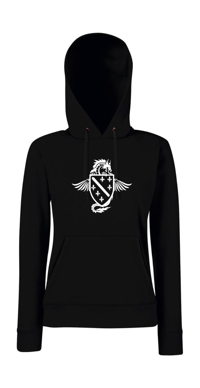 Sweatshirtjacke Schwarz Tattoo Drachen /& keltisches Kreuzmotiv Modell Drachen