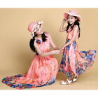 Summer Mother Daughter Dress Girl Clothes Women Beach Dress Family Outfit L