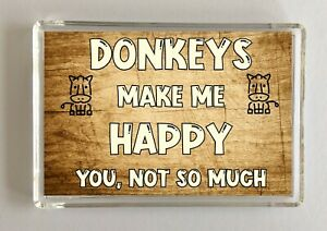 Donkey-Gift-Novelty-Fridge-Magnet-Makes-Me-Happy-Ideal-Present-Birthday