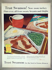 Swanson TV Dinner PRINT AD - 1963 ~~ Turkey Dinner