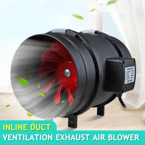 """8 /"""" Inch Inline Ventilation Duct Fan Quite Air Blower Duct for Exhaust Intake"""