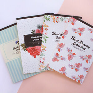 54sheets 27various Hand Drawing Type Letter Lined Writing Stationery Paper Pad
