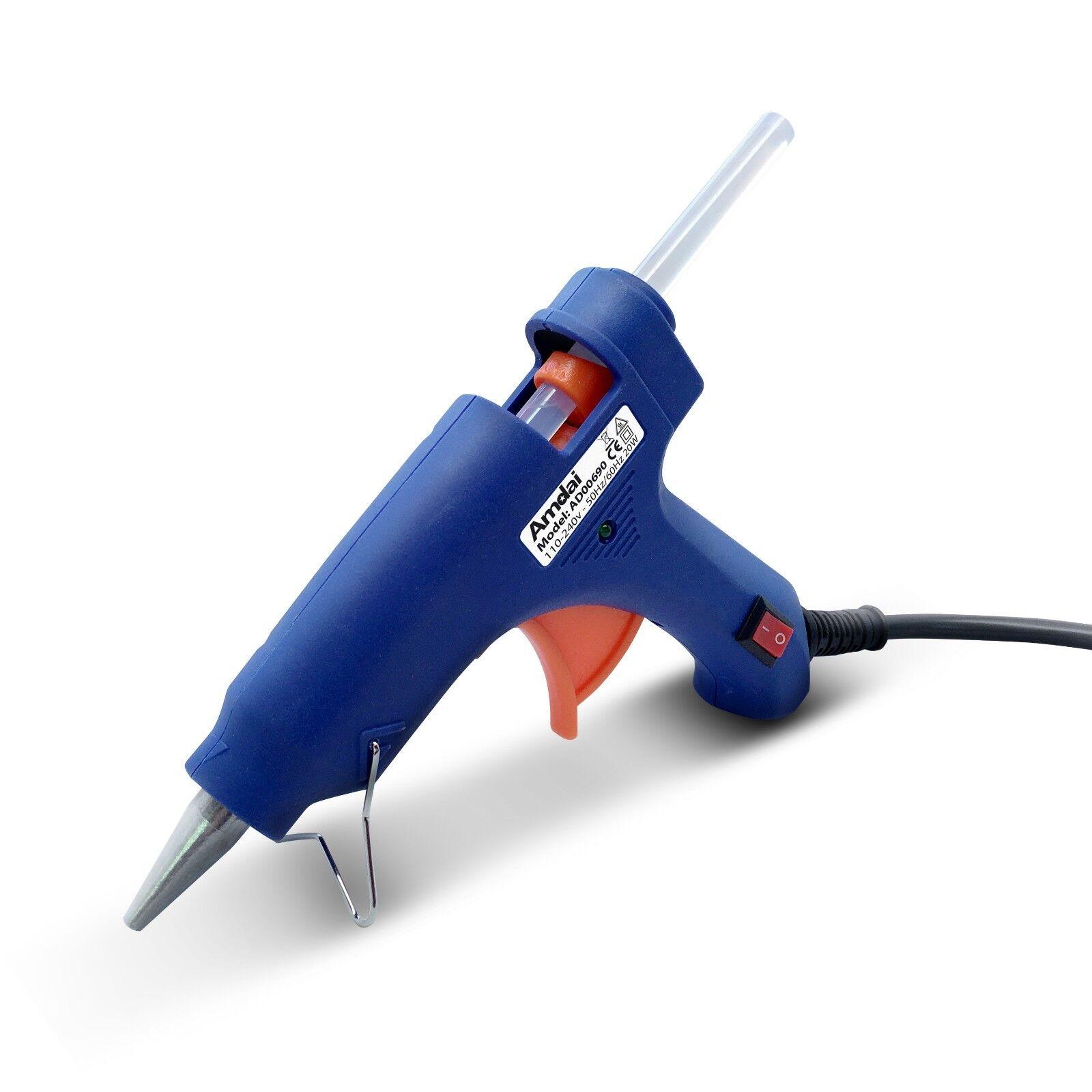 50-Pack Amdai AD00690 Hot Glue Gun and Glue Sticks Bundle 20W Glue Gun