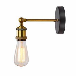 Vintage Industriell Retro Metall//Holz//Hanfseil  Wandleuchte Wand Lampe E27 220V
