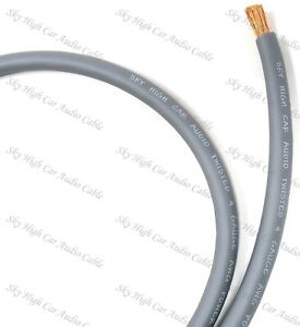 4 Gauge AWG OFC RED  Power Ground Wire Sky High Car Audio Sold By The Foot ft