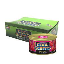 12 x California COOL Scents Car Home Air Freshener Freshner Tin Can - CHERRY