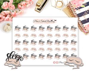 Sleep Planner Stickers//Erin Condren Stickers//Happy Planner//Life Planner