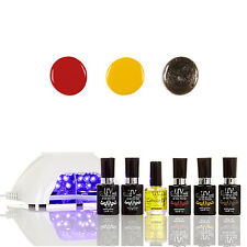 Gel Polish Starter Kit With LED Lamp V10-W G-5 G-10 GL-10 UVNAILS Salon Quality