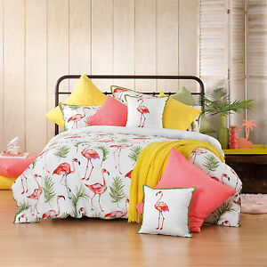 Bianca-Flamingo-Melon-Doona-Duvet-Quilt-Cover-Set