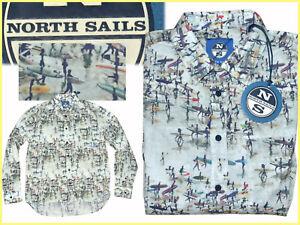 NORTH-SAILS-Camisa-Hombre-Talla-L-M-Europa-S-M-US-PRECIO-DE-SALDO-NS01-T1G