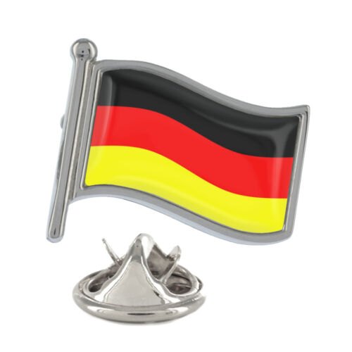 Germany Wavy Flag Pin Badge German Country EU Berlin Deutschland NEW