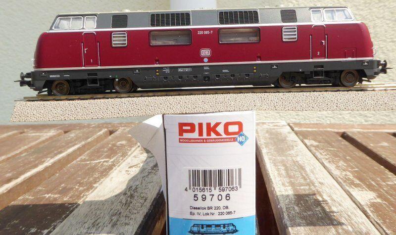 Piko 59706 H0 diesellok br 220 065-7 DB ep.4, dss + led-licht große frontklappe