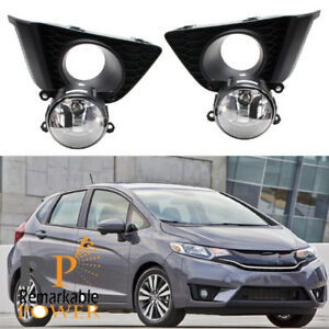 New OEM Fog Lamp Set No Switch Wiring No Cover For 2015 2016 2017 Honda Fit Jazz