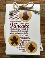 Williams-sonoma Holiday Pancake Molds Set 3 Tree Snowman Gingerbread Man