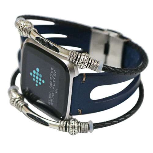 Replacement Leather Wristband Band Strap Bracelet For Fitbit Versa//Versa Lite !