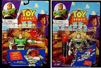 Toy Story Movie Solar & Infrared Buzz Lightyear 2 Figure Set Thinkway 1995