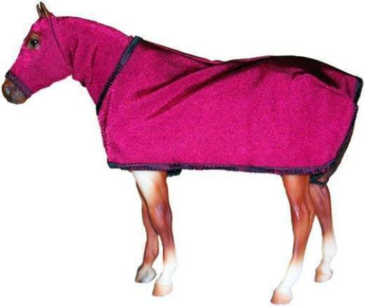 Breyer or Stone Model Horse -   BURGUNDY Sleazy Hood and Sheet FREE SHIPPING