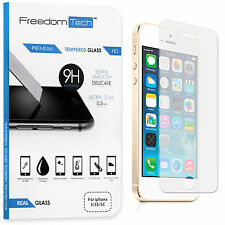 FreedomTech Tempered Glass Screen Protector for iPhone 5s