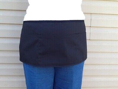 Black PLUS SIZE Wider waitress waist apron 3 pocket  restaurant Classyaprons