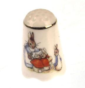 Beatrix-Potter-Mrs-Hase-Flopsy-Mopsy-und-Waldkaninchen-Porzellan-Kabelschuh