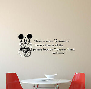 Walt Disney Quote Wall Decal There Is More Treasure Vinyl Sticker