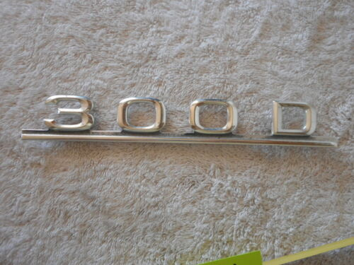 Mercedes Benz 300D 300 D Trunk Emblem Diesel  W123  FAIR condition boot script