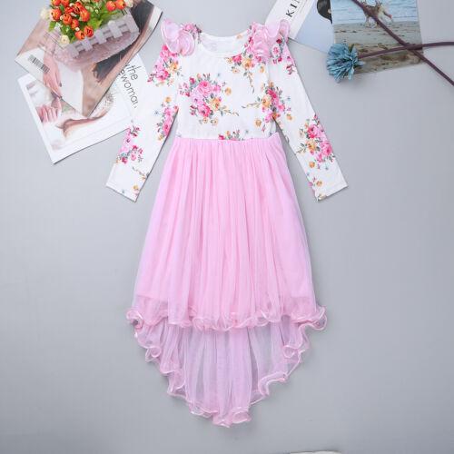 Flower Girl Communion Party Dress Princess Pageant Bridesmaid Wedding Dresses