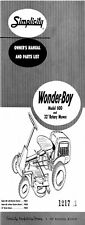 Simplicity Wonder Boy 600 6hp Amp 32 Rotary Mower Operator Amp Parts List Manual 12