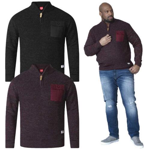 Duke D555 Mens Big Tall King Size Stefon Zip Neck Sweater Knitted Winter Jumper