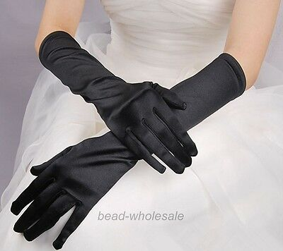 Fashion Satin Long Gloves Opera Wedding Bridal Evening Party Costume Gloves Lady