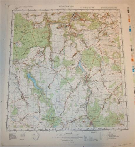 """ehemals VVS NVA Topographische Karte M-33-40-A /""""Freital/"""" 1:50000"""