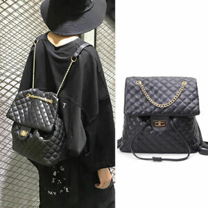 2-Way-Quilted-Faux-Leather-Chain-Backpack-Drawstring-Bucket-Shoulder-Bag-Purse