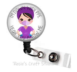 Badge Reel Nurse PPE Badge Reel Retractable Badge Badge Reel Gift Badge Holder Nurse Badge Reel Nurse Gift ID Badge Reel Badge Pull