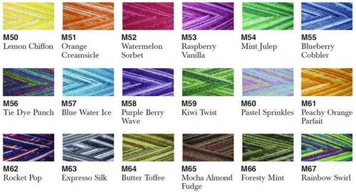 ESPRESSO SILK Maxilock Swirls Decorative Overlocker Thread variegated rainbow